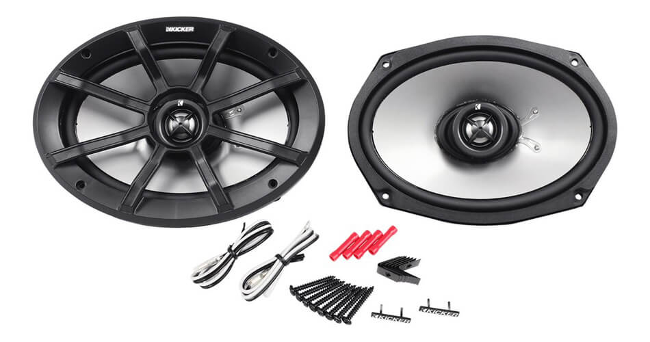 Powersports 4-Ohm 90 Watt Rms Coaxial Car Stereo Speakers Ps69